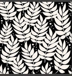 palm leaves geometric pattern background vector image