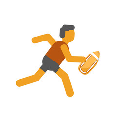 Person running with safety yellow board isolated vector