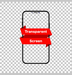 phone mockup isolated screen phone transparent vector image
