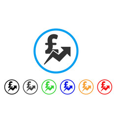 pound sales growth rounded icon vector image