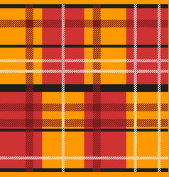 Red and orange tartan vector