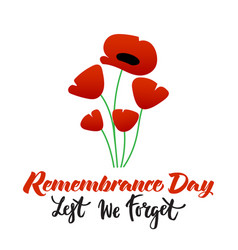Remembrance day poster vector