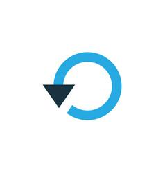 Replay colorful icon symbol premium quality vector