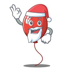 santa balloon character cartoon style vector image