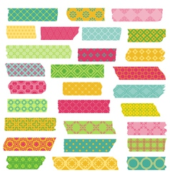Set ribbons and stickers vector