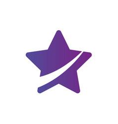 star icon cur in half leader winner boss rank vector image