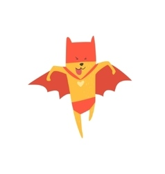 Super Hero Cat Running vector