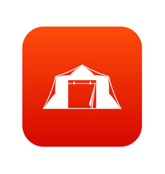 Tent icon digital red vector