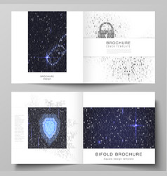 The layout of two covers templates for vector