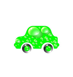 the most top-end toy car green color in drops of vector image