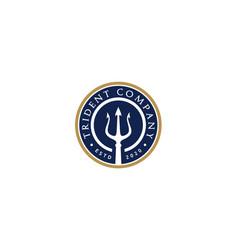 Trident fork neptune poseidon triton king god logo vector