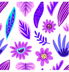 tropical floral seamless pattern vector image