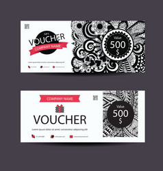 Voucher zentangle vector