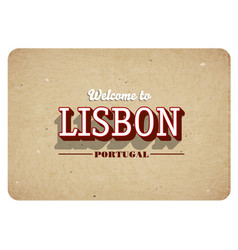 welcome to lisbon vector image