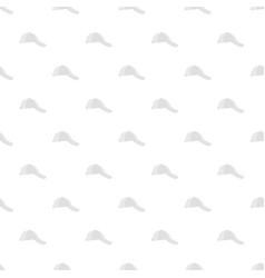 white baseball cap on side pattern seamless vector image
