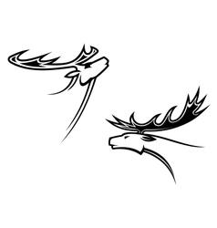 Wild deer mascots vector