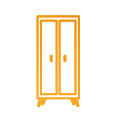 wooden wardrobe furniture home decoration icon vector image