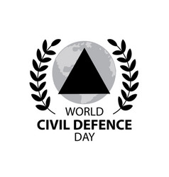 World civil defence day vector