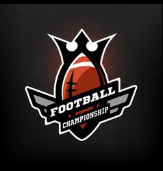 american football championship logo vector image