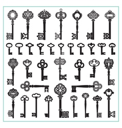 Antique Keys Silhouettes vector image