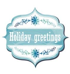 Holiday Greeting Card vector image