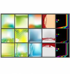 collection of backgrounds vector image