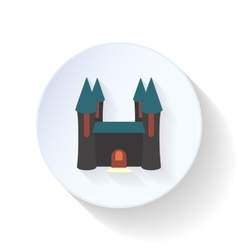 Halloween castle ghosts flat icon vector image vector image