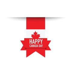 happy canada day background vector image vector image