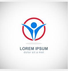 success business man logo vector image vector image