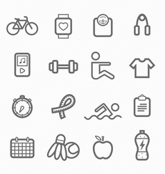 exercise symbol line icon set vector image