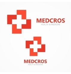 medical cross logo or icon vector image