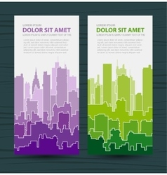 Rainbow urban vector image