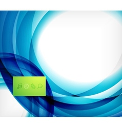 Blue swirl wave abstract design template vector image vector image