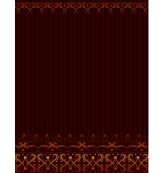 brown background with ornamental border vector image