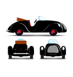 Cartoon black car vector