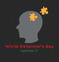 Creative poster or banner of world alzheimers day vector