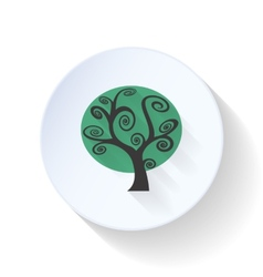Gloomy tree flat icon vector image vector image