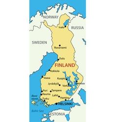 Republic of Finland - map vector image vector image