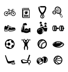 sport icons vector image vector image
