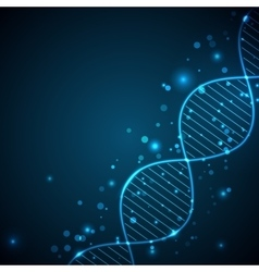 Abstract light background with DNA chain vector