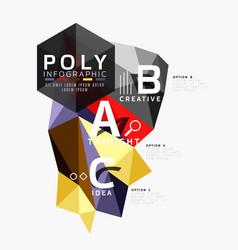Abstract polygonal infographics vector