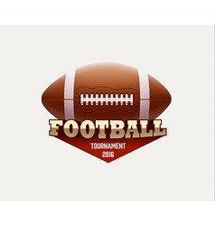 american football lable with realistic objects vector image