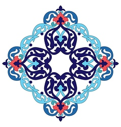 Antique ottoman turkish pattern design two vector