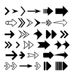 arrows collection concept for web vector image