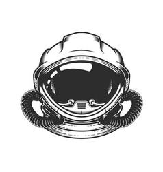 Astronaut in space helmet head spaceman vector
