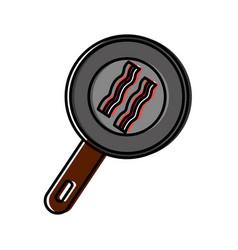 bacon stripes icon vector image