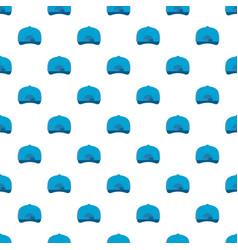 Baseball cap back pattern seamless vector