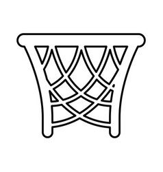 basket basketball isolated icon vector image