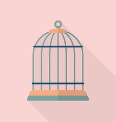 Bird cage flat icon vector
