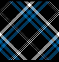 Black check pixel square seamless diagonal fabric vector